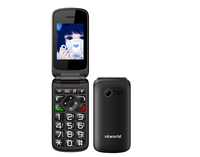 2.4inch Fashion Vkworld Z2 SC6531 Flip GSM Mobile Phone Unlocked Dual Sim Camera Big keypad Cheap Senior Cell Phone 64MB+64MB