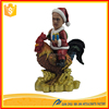 Figurine resin rooster figure/statue, animal resin craft for business gift