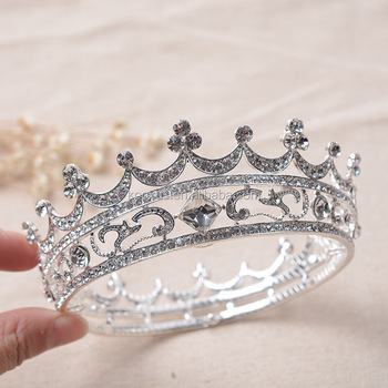 Full round crystal Party Crown Tiara