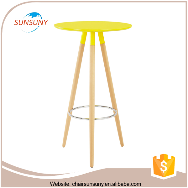 High quality low price wholesale design wooden high bar table