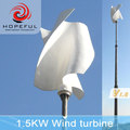 1500w vertical axis permanent magnet stability wind turbine government project