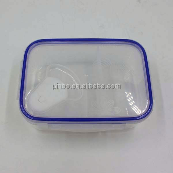 Hermetic Transparent 2 Compartments Kids Food Warmer Lunch Box