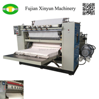 Automatic box drawing facial tissue equipment embossed interfold face paper product machinery