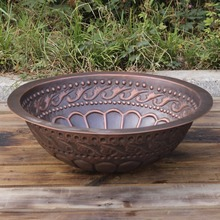 European wash basin/pure copper bathroom sink/handmade copper round sink for bathroom