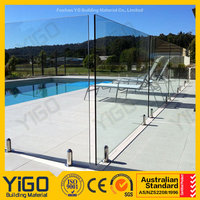 glass swimming pool fencing/inflatable deep pool