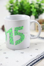 Factory in liling China Fashionable design hot color change ceramic coffee mug