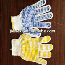 Hot 10 gauge glove work black pvc dotted gloves cotton knitted industrial use