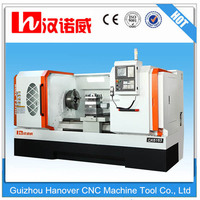 CNC lathe, flat bed and hardway lathe CK6163 with 25-950rpm spindle speed 105mm big bore spindle 12'' chuck from China factory