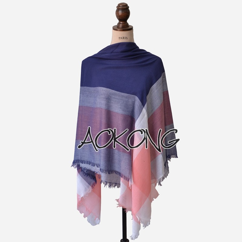 New design light weight square plaid oversize best-selling scarf shawl