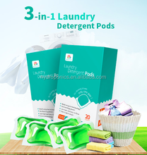 Eco-friendly, 3 in 1 Laundry detergent pods, laundry capsule, stain remover & fabric softener
