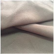 rayon twill fabric dyed in solid brown color with sandwash