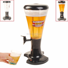 Draft Beer Tower 3L Tabletop Drink Dispenser with Tap