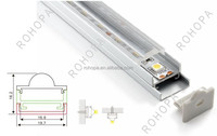 clear cover alu led profile flat style alumnimu extrusions for counter display LED lighting CE ROHS