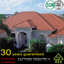 real Roofing Material High Quality Aluminium Steel Stone Coated Building Material Roofing Tile Villa House Roofing
