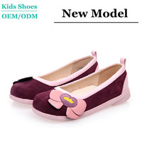 Fashion suede leather dress shoes girls evening party shoes girls vintage shoes