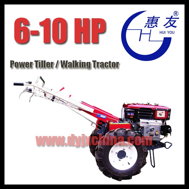 6hp, 7hp, 8hp Small Power Tiller / Walking Tractor, 2WD, Diesel Engine