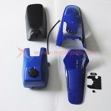 Blue Plastic Gas Tank Seat Kit for Yamaha PW80 PEEWEE 80 Trail Bike PY80 dirt bike