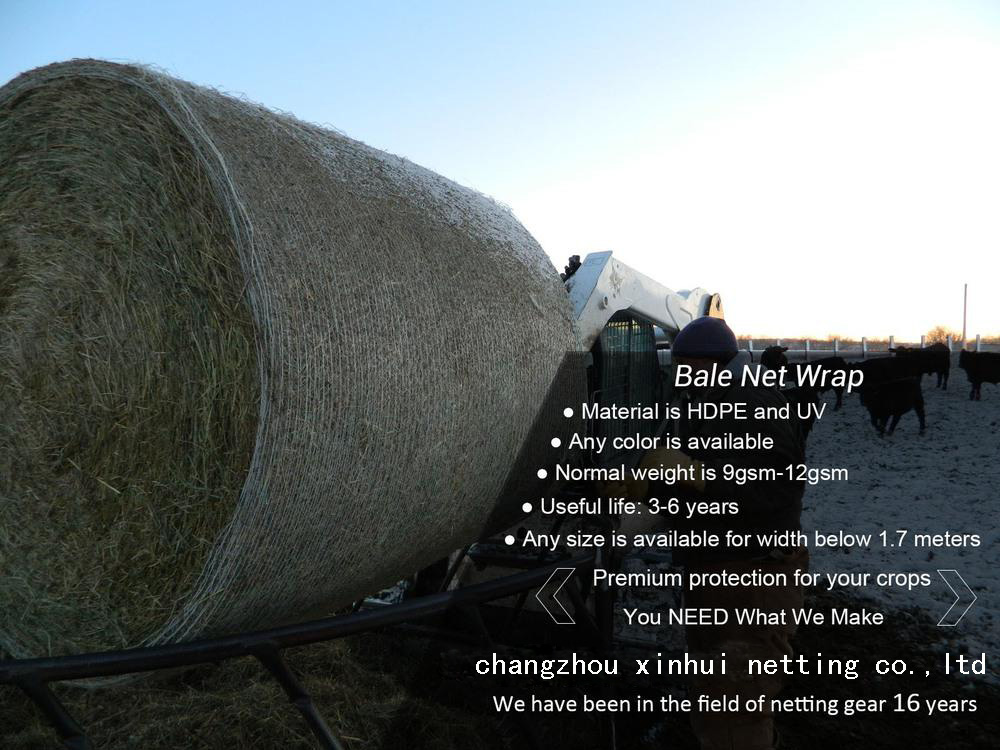 agriculture use HDPE net wrap mini baler