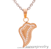 rose gold plated color CNC 316l stainless steel zircon jewellery