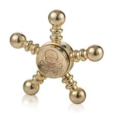 Pentagon Alloy Hand Spinner Skull Finger Tip Spiral Toy for Autism Kids Adult