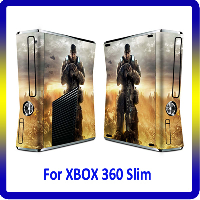 Factory price vinyl skin sticker for xbox360 slim console