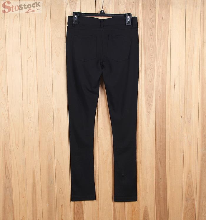 Stocklot Black Garment Factory Hipster Sexy Bell Bottom Cutting Woman Trousers