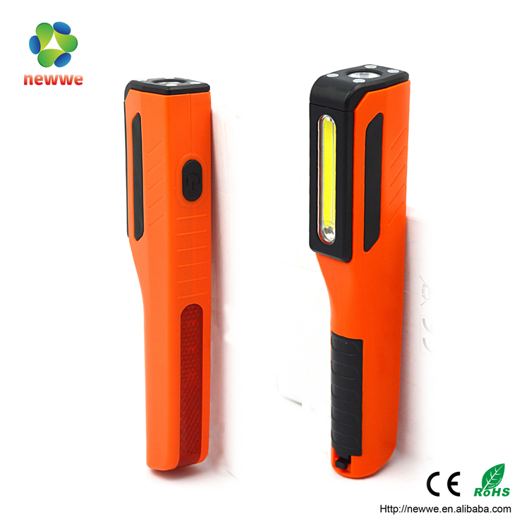 3W COB RED LED magnetic head new plastic pen work torch light with high bright led best selling products portable ac work light