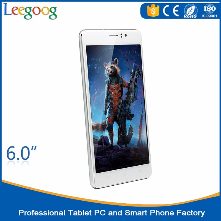 2016 new 6 inch big touch screen mobile phone with gps and bluetooth