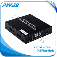Transmit DVI signal distance up to 10km DVI KVM fiber optic transmitter price with RS232