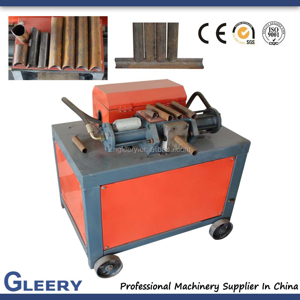 GLR-51/76 steel pipe tube end notching machine for good welding