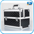 Fashion aluminum makeup artist cosmetic train case box kit