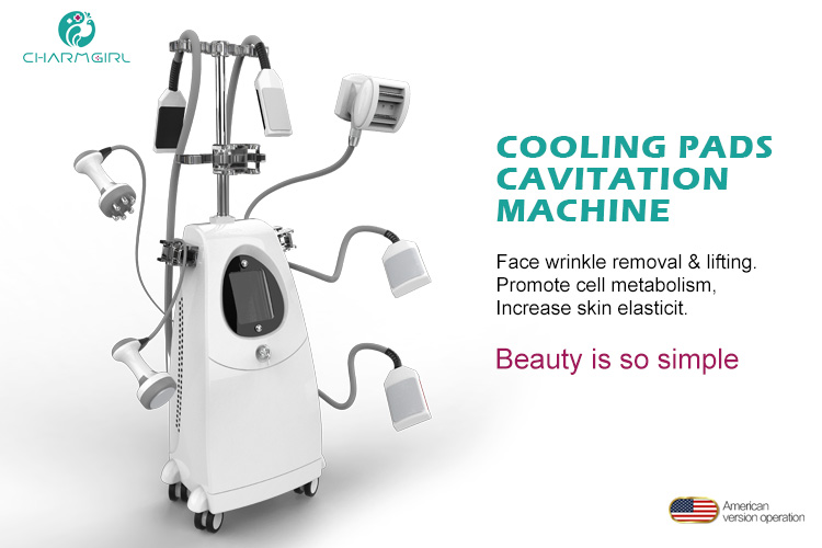 Good effective vertical cooling plates vacuum fat removal cavitation body slimming machine