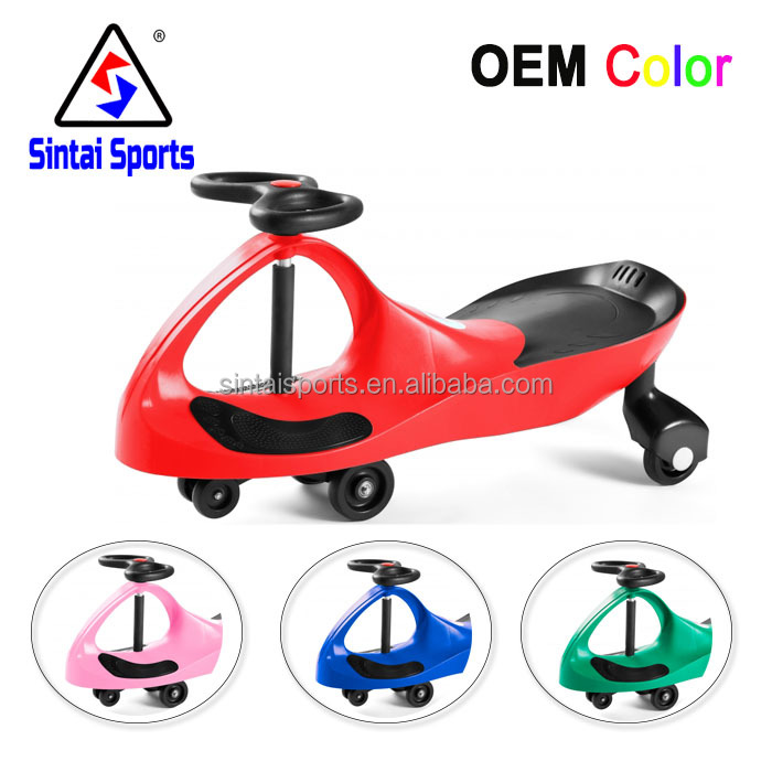 Christmas gift high quality ride on toys plastic Material swing car for children