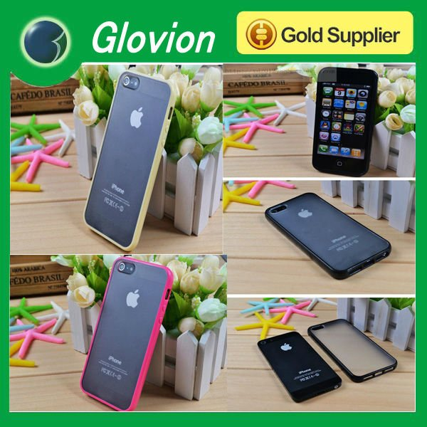 Hot sale dust proof case for iphone5 silicone case for iphone5 clear case for iphone5