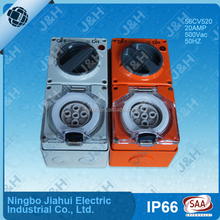 56 series IP66 water proof switched socket 5 pins 20A 500V high quality australia SAA socket