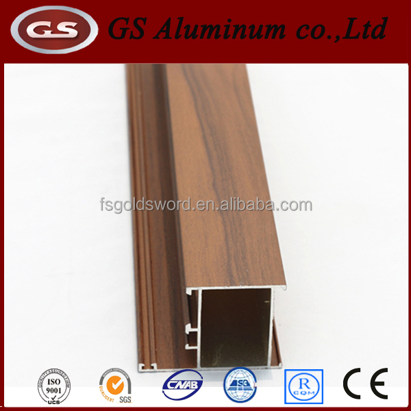 Window and door extrusion aluminium profile, wood aluminum doors