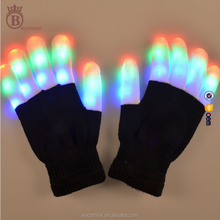 Manufacturer Factory Glitter New Year Christmas Day Knited LED Gloves