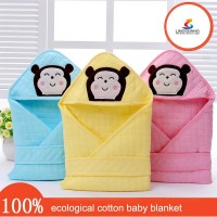 Cute super soft touch ecological cotton baby clothings baby bibs baby blanket