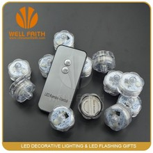 12pcs + remote control waterproof submersible tea light,led candle tea light
