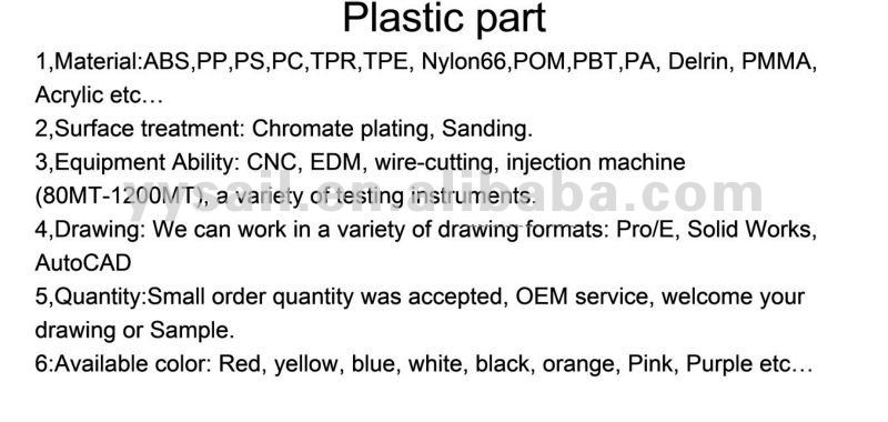 Custom-made ABS plastic part injection part