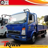 EURO 4 diesel engine 117hp mini light small howo 5 tons cargo truck 4x2 5 tons 10 tons