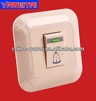 1 gang door bell wall switch with light