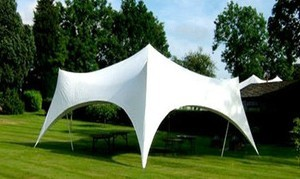 Waterproof stretch tent fabric for outdoor wedding camp