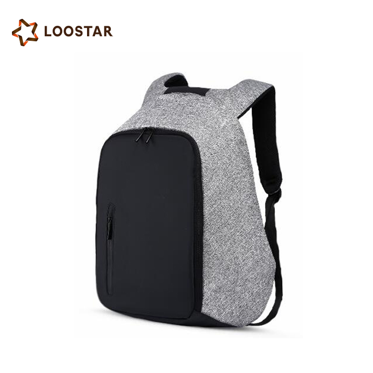 2017 LOW MOQ Custom Men's Anti theft Backpack Bag