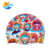 Custom thermal transfer personalized silicone swimming cap
