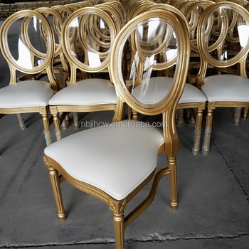 new design resin PP event and wedding louis XV dining chair