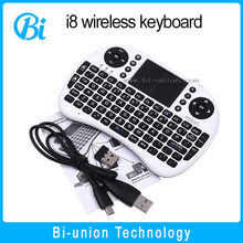 I8 Keyboard with Touchpad for PC 2.4g wifi mini wireless keyboard air mouse fly mouse arabic