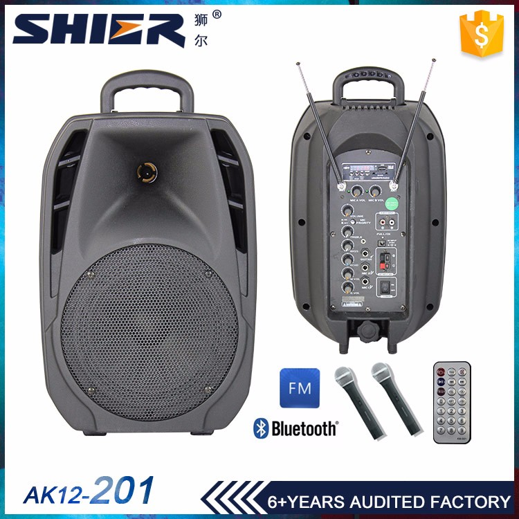 80W 12V/7Av battery trolley speaker portable dj 12 inch woofer