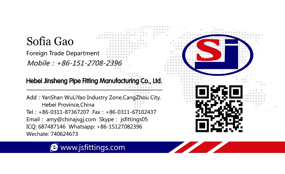 ANSI B16.9 A234 WPB steel pipe flange fittingsflange for power plant in Hebei