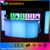 bar counter combine led bar table with ball lamp celing high ball lamp